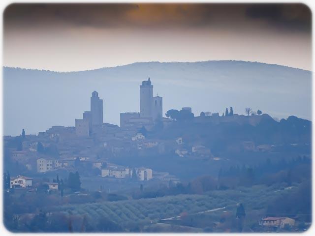 Panorama con vista su S.Gimignano