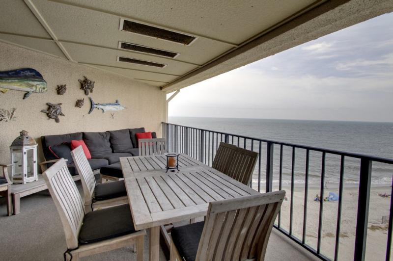 Relax on the deck with breathtaking ocean views!