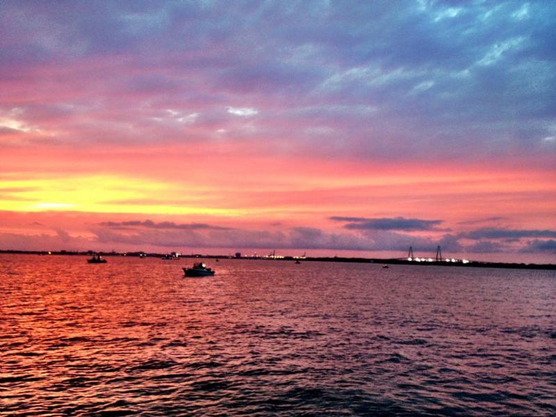 Enjoy Charleston's stunning sunsets!