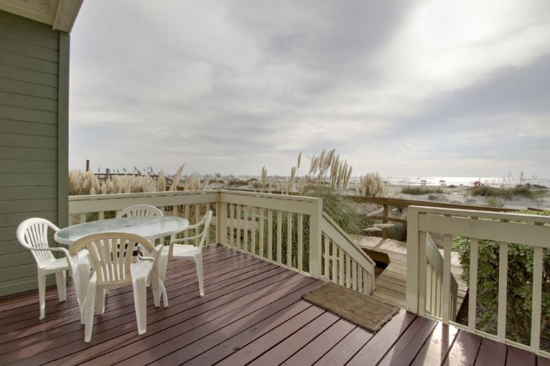 Relax on the back deck and listen to the ocean