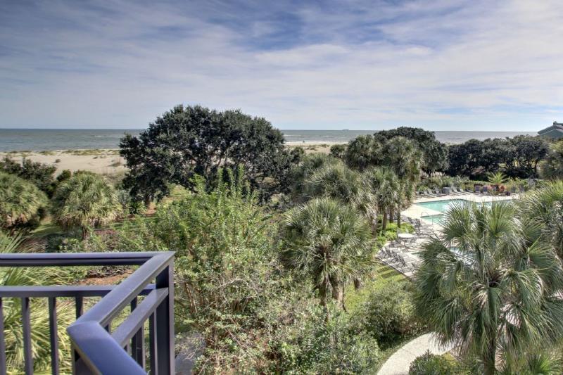 Playa y piscina Vista desde el balcón