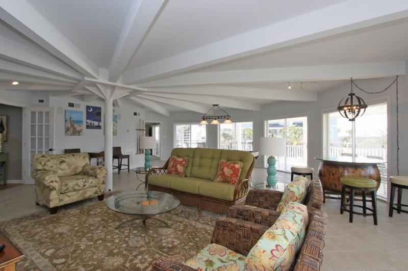 Great gathering space on lower level