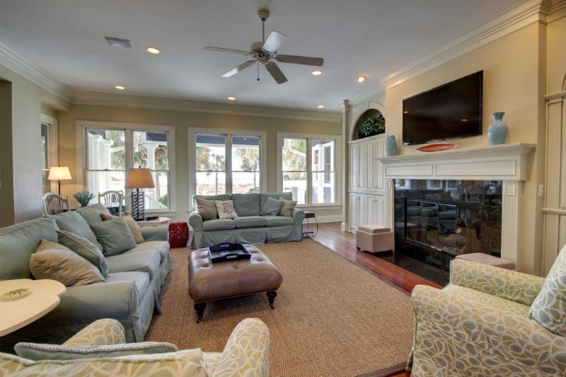 The Living Area with Oceanfront Views