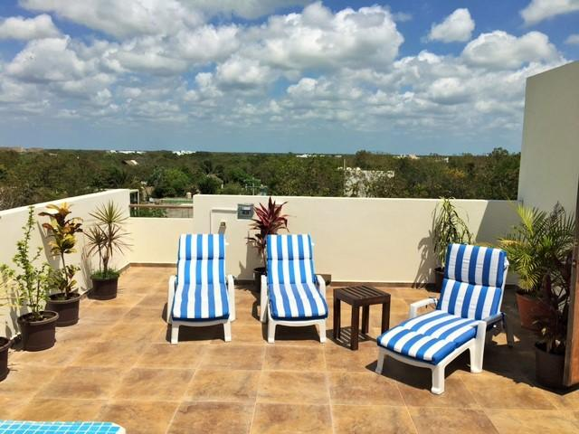 Spacious Penthouse, jacuzzi, pool and terrace, vacation rental in Tulum