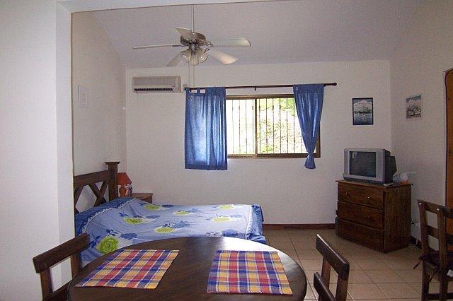 Bedroom area in the studio