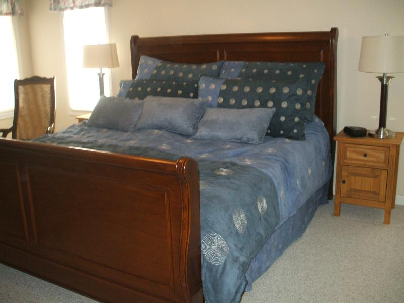 Main floor master bedroom (king size bed, TV and DVD player, walk in closet and its own full bath)