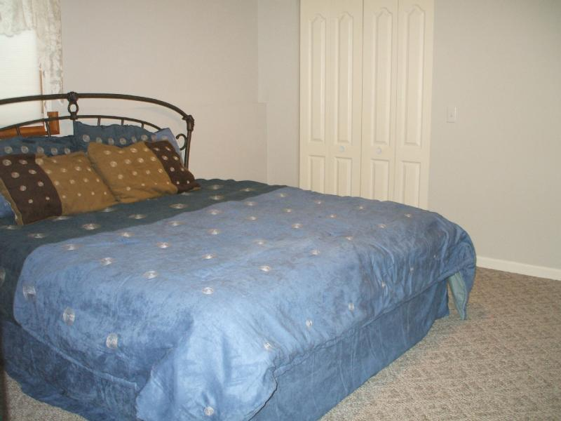 Lower level bedroom with king bed