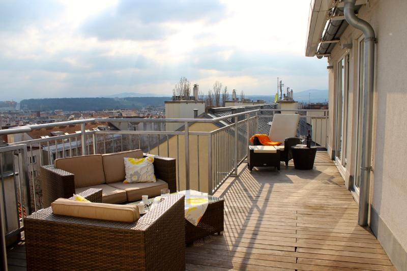 Spacious, private terrace