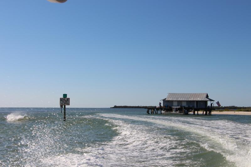 North Captiva's historic ice house.  You'll see it coming and going from the island.