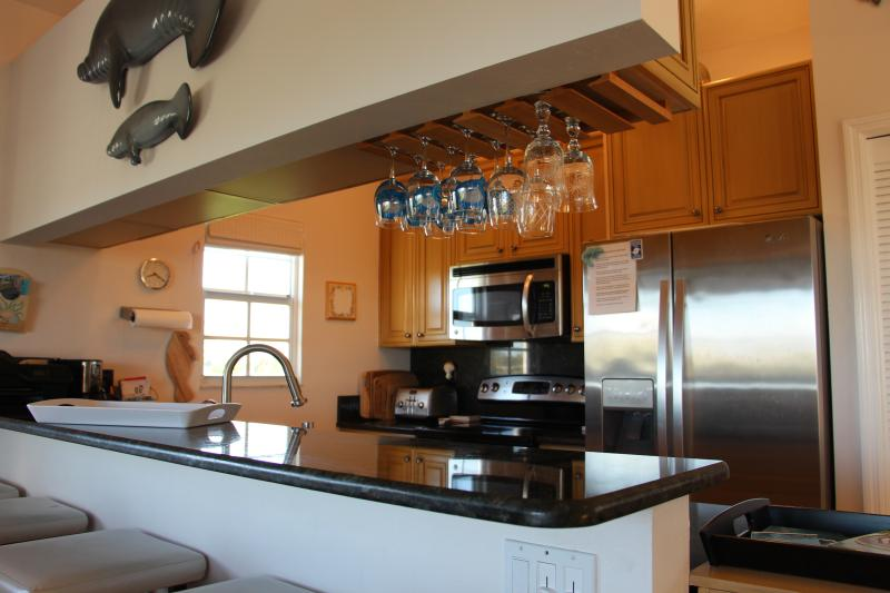 View of our beautiful kitchen with all the amenities you could ever need.