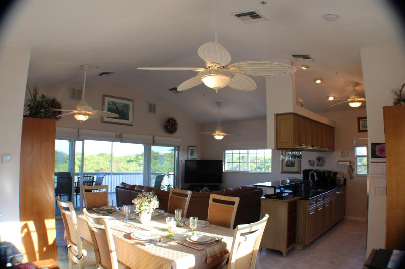 Dining area, kitchen and living room area.  Fantastic for family bonding.