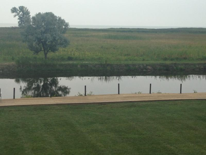 Area in front of house allows for a peaceful family activities and swimming.  Life jackets provided