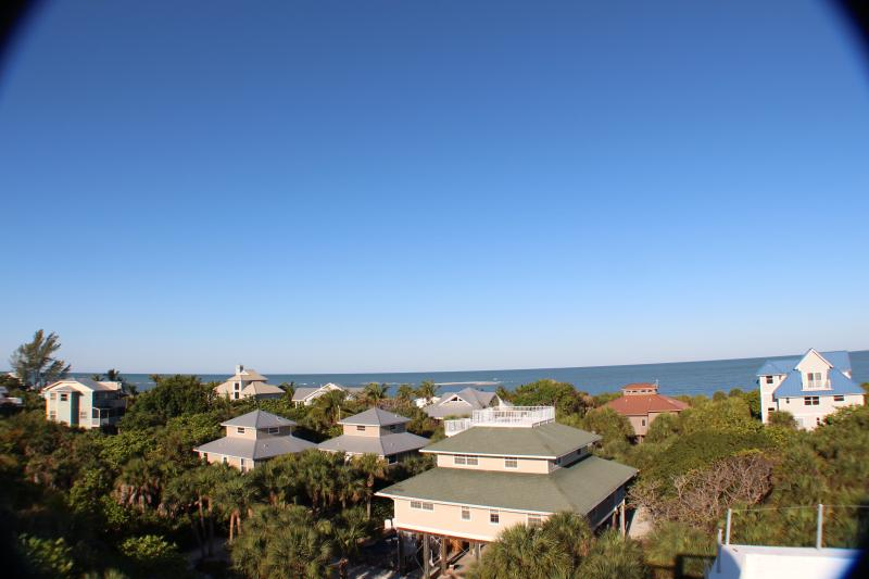 View of the beautiful Gulf Of Mexico from our crow's nest.