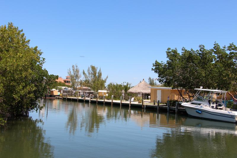 Water taxi arrival at Barnacle Phil's on North Captiva Island.