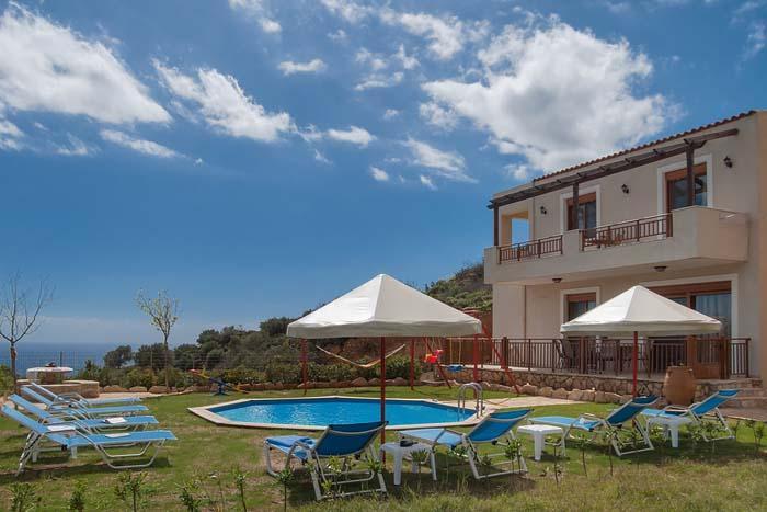 Triopetra Villas - Villa Nikos, location de vacances à Xilokampos