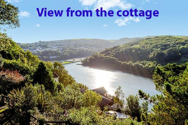 Stunning views of Looe River and the woodlands on the opposite side of the valley