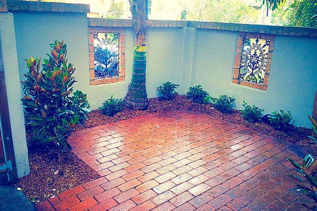 private front courtyard for your sole use