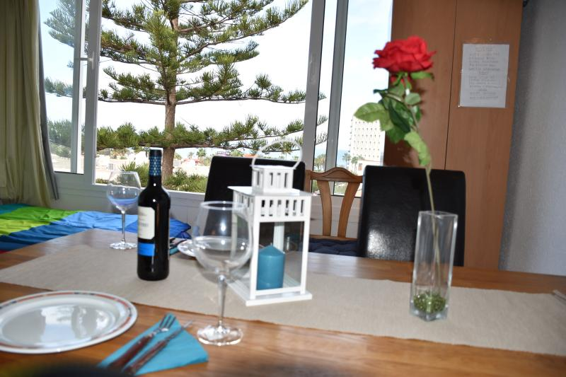 Here you can enjoy the evenings with a glas of wine!