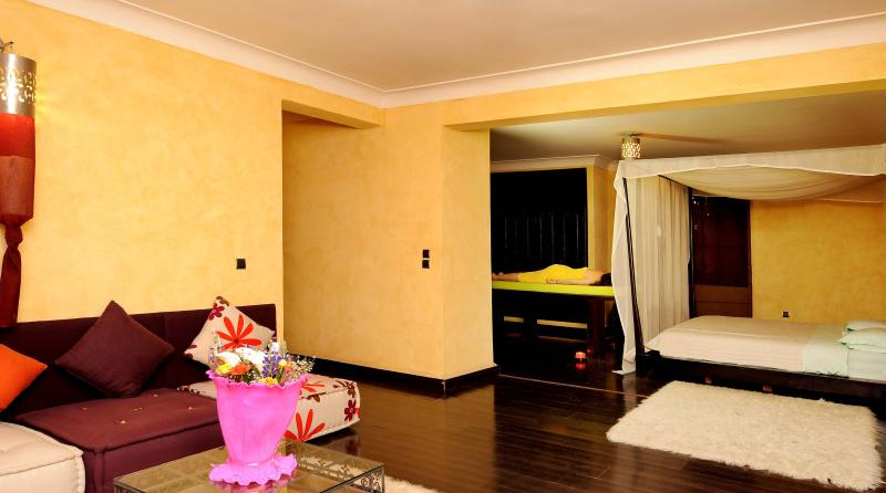 Enjoy a massage in the master bedroom