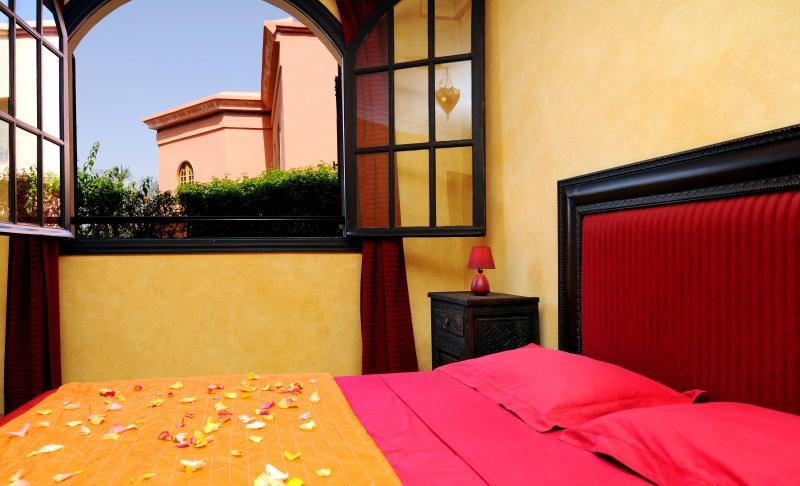 One of our bedrooms with air condition and satellite TV