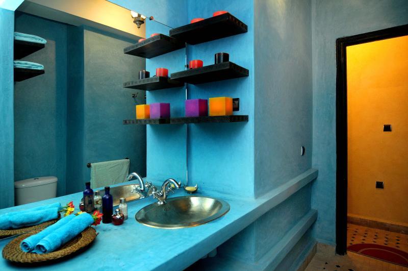One of the bathrooms done in traditonal tadelakt finsih
