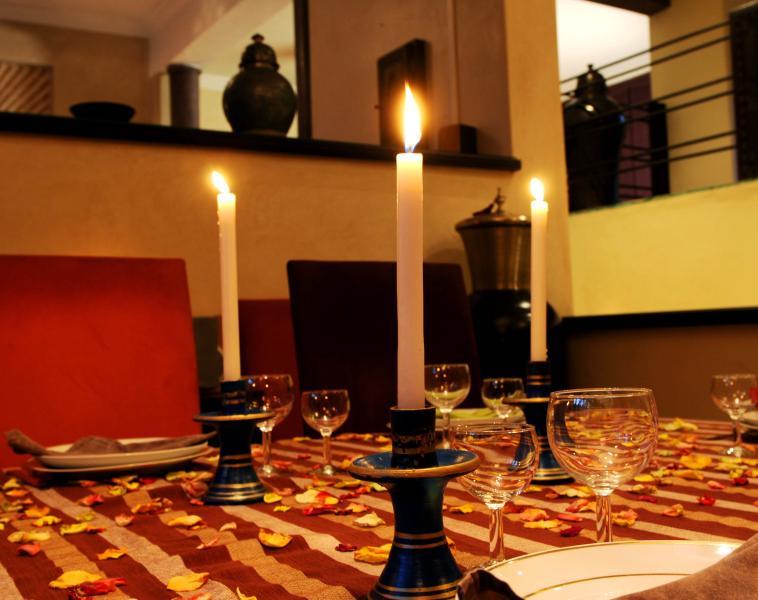 Dine in the privacy of the villa