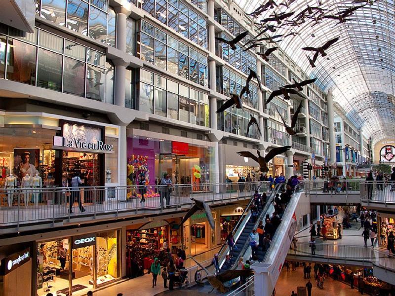 Eaton Centre Interior. Incredible Shopping!!!