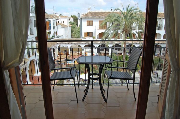 Balcony looking into the Villamartin Plaza.