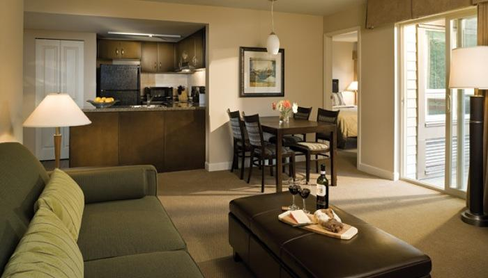 Relax and entertain in our spacious and stylish 700 square-foot Two Bedroom guest suites featuring all the comforts of home