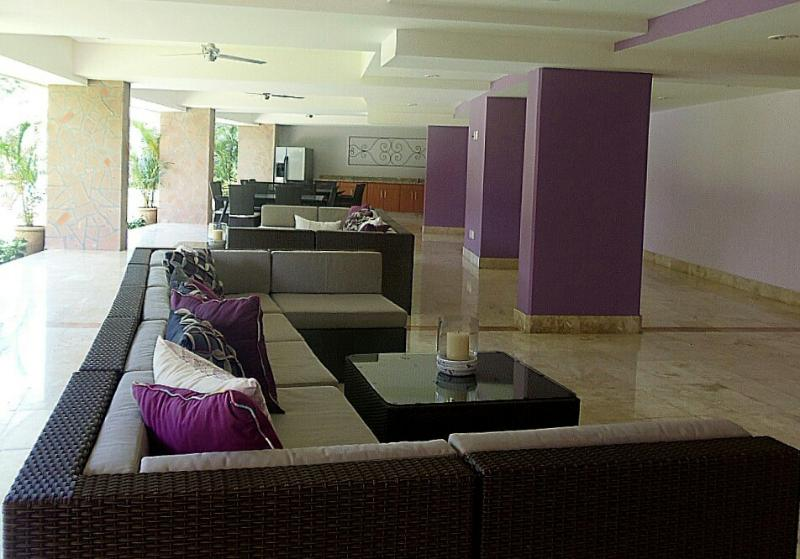 Common area by the swimming pool