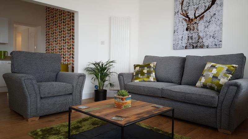 Large double sofa bed in living room