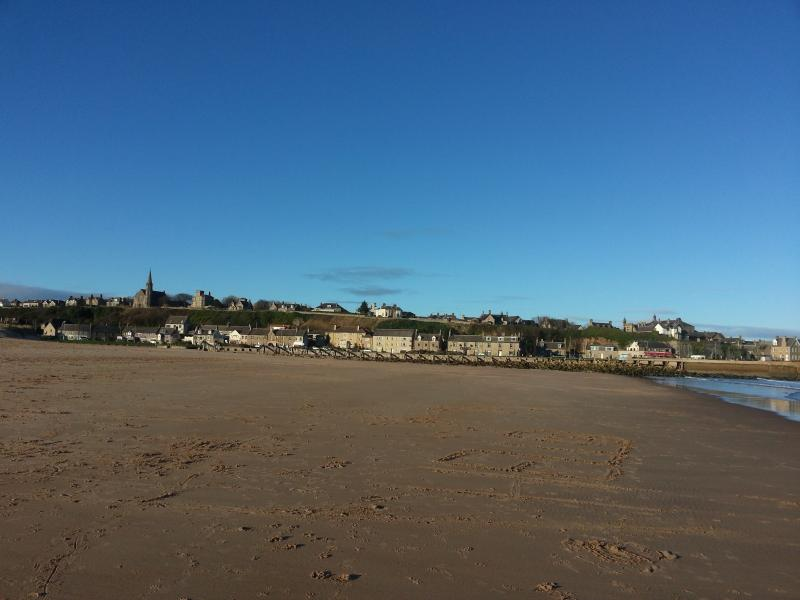 View of Lossiemouth from the East Beach.