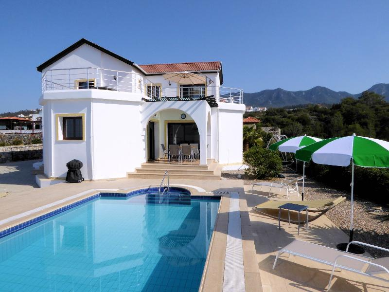 Jasmine Villa, set in an elevated position with stunning mountain and sea views