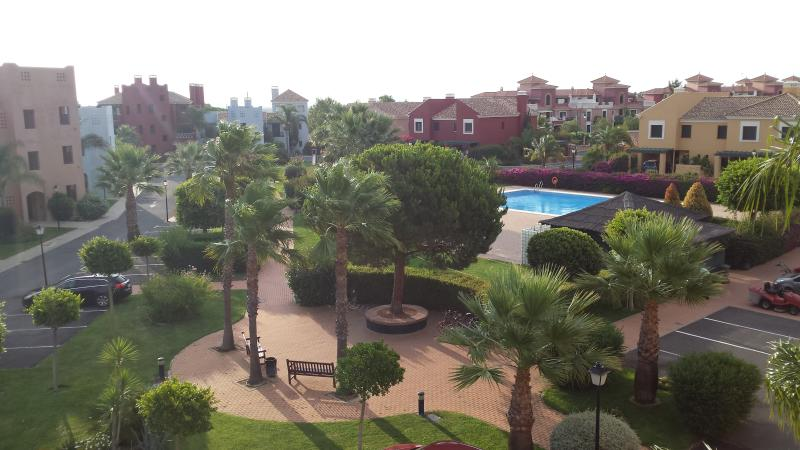 El rincon appartments, view from rear balcony