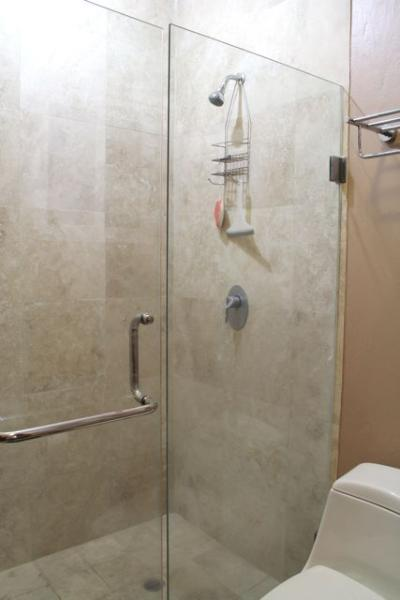 Large shower in 3rd bathroom.