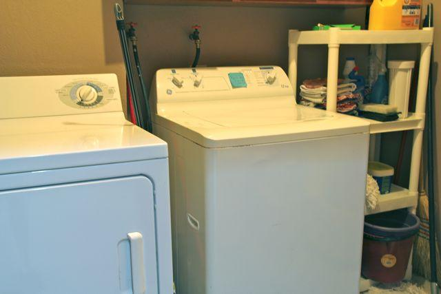 Full size washer and dryer available.