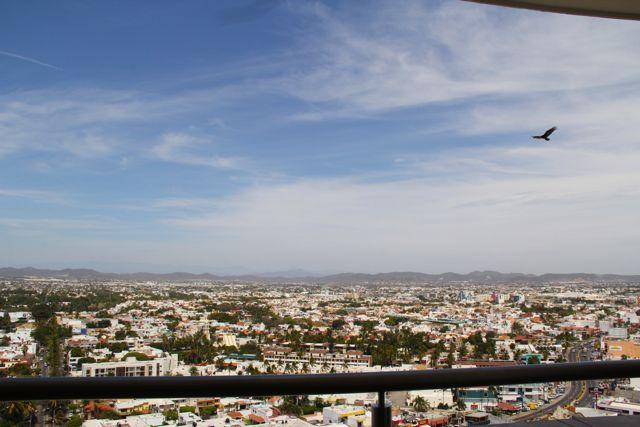 Mountain views and views of Mazatlan city.