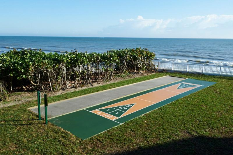 Onsite shuffle board and bocce ball