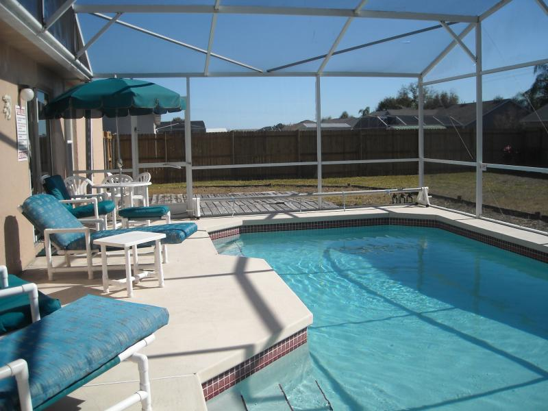 Sceened pool and garden