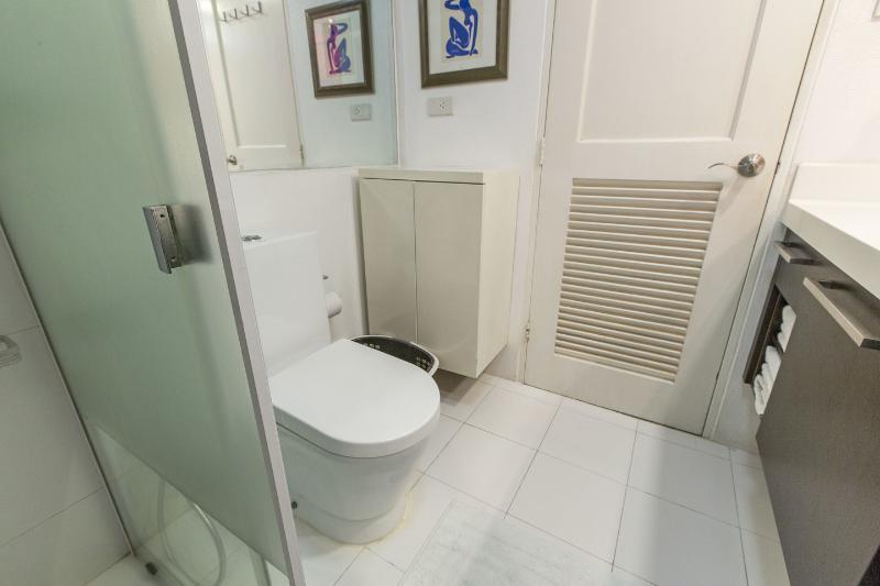 Soft-closing lavatory..