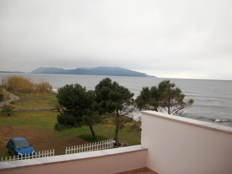 view from the balcony with backdrop of Lefkada(1)