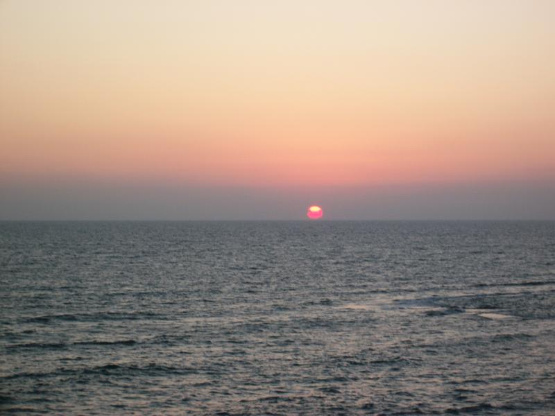 the beautiful sunset from the terrace