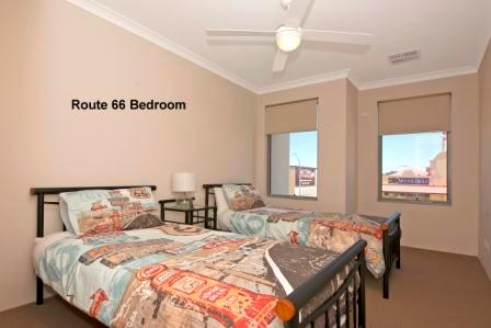 twin single beds route66 1st floor