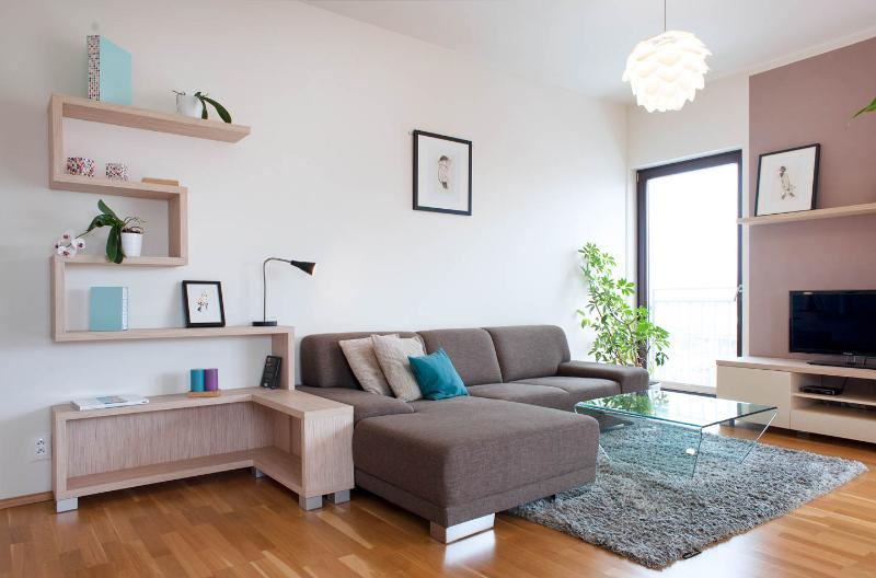 Living room- apartment is designed by architect