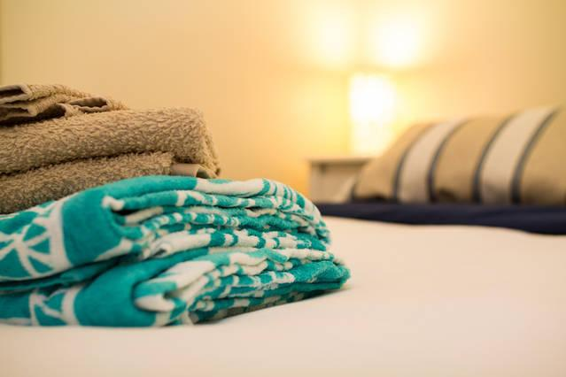 fresh towels and linen