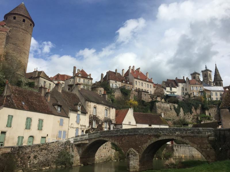 Pont Pinard Bridge to Our House, One of the Most Photographed Spots in Burgundy