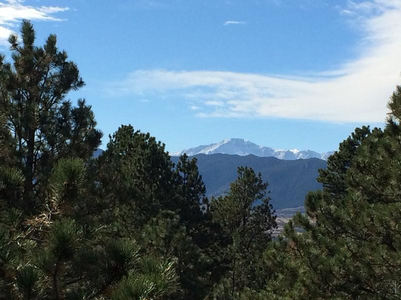 View of Pikes Peak out our back decks