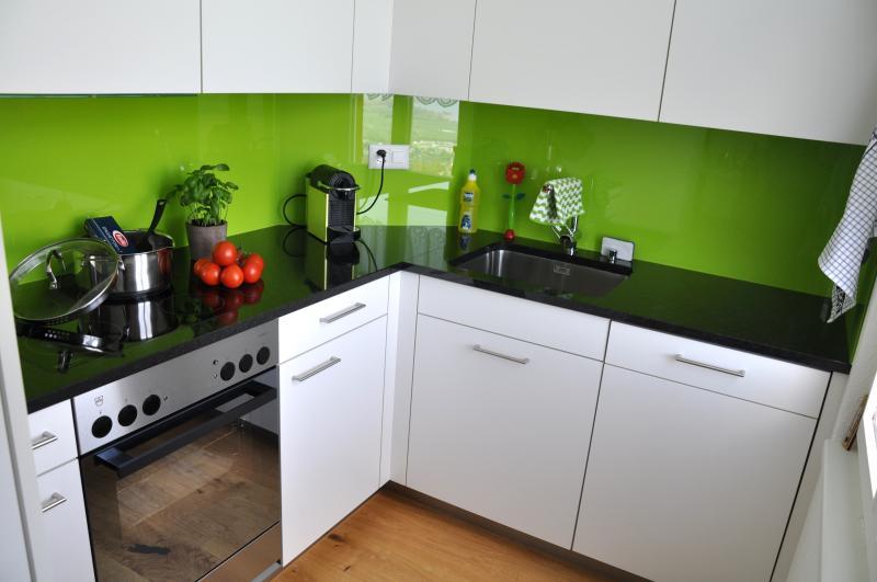 frisch sanierte, moderne und vollausgestattete Küche mit Geschirrspühler