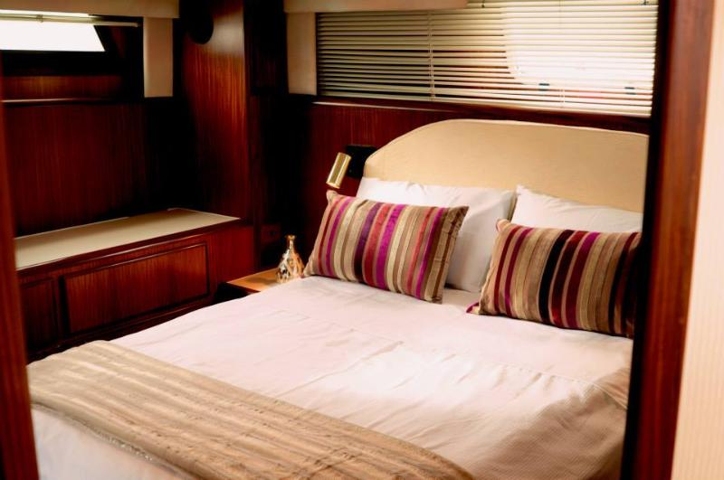 very spacious main cabin with king size bed and ensuite