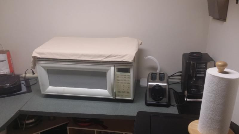 Breakfast essentials, Toaster, coffee maker, microwave and egg maker